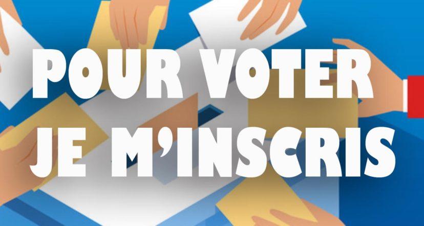 Inscription sur les listes électorales : encore un mois