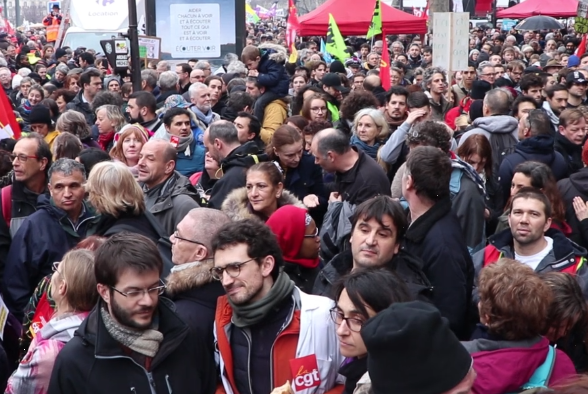 Manifestation du 9 janvier contre la réforme des retraites